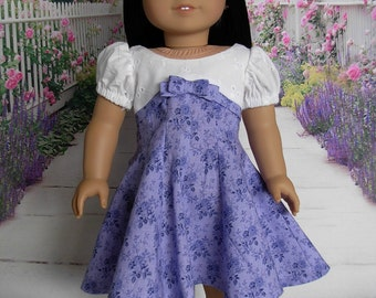Retro 50s Style Dress fits American Girl Doll and 18 inch dolls