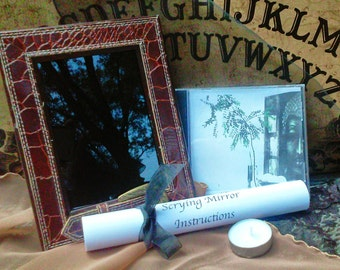Scrying Mirror, Divination, Black Mirror, Witchcraft, VooDoo, Spiritual, Metaphysical