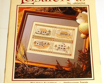 LAST CHANCE SALE - Leisure Arts the Magazine - October 1990 - Halloween Cross Stitch Patterns