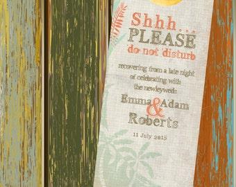 20 door hanger signs for wedding welcome bags bat mitzvahs