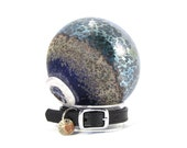Pet Memorial Cremation Ash - Blown Glass made w/ Cremation Ashes - Twilight Blue
