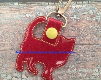 Kitty Cat  - Cat - In The Hoop - Snap/Rivet Key Fob - DIGITAL Embroidery Design