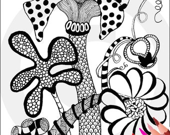 STEAMPUNK Printable Coloring Pages Bookmarks DIY