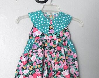Vintage girls toddler floral summer dress 3T