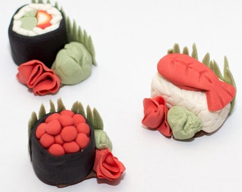 Fondant sushi toppers (Set of 6)