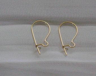 14Kt Gold Filled Kidney Earwires (4 pair)