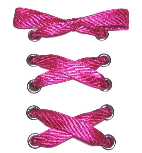 the shoelaces shop fuchsia ribbon shoelaces ribbon shoe