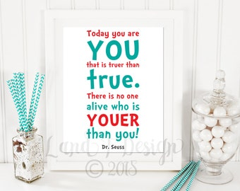 Today You are You Print