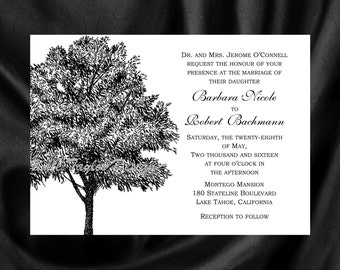 Tree Invitation & RSVP - Tree Wedding Invitation Maple Tree Wedding Invitation - Tree Design 26