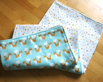 Organic Fox Baby Blanket organic cotton blanket