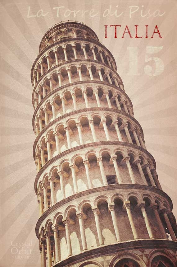Italian Wall Art italy art italy poster leaning tower of pisa modern art