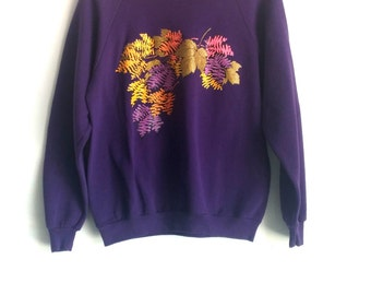 90's, Fall Sweatshirt with Pink Collar