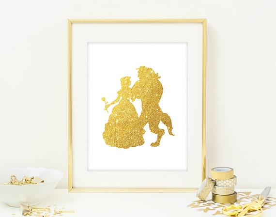 Beauty And The Beast Wall Art Print Modern Chic By