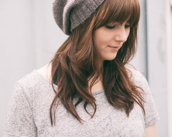 Plain and Simple Slouchy Beany | Hand knitted Slouchy Hat