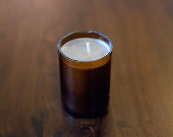 Recycled Beer Bottle Candle