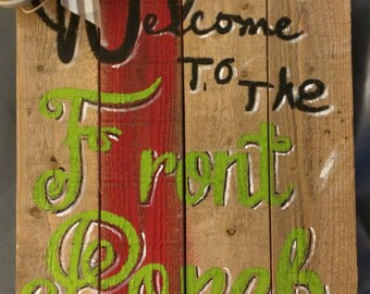 Pallet Sign Wood Welcome to The Front Porch