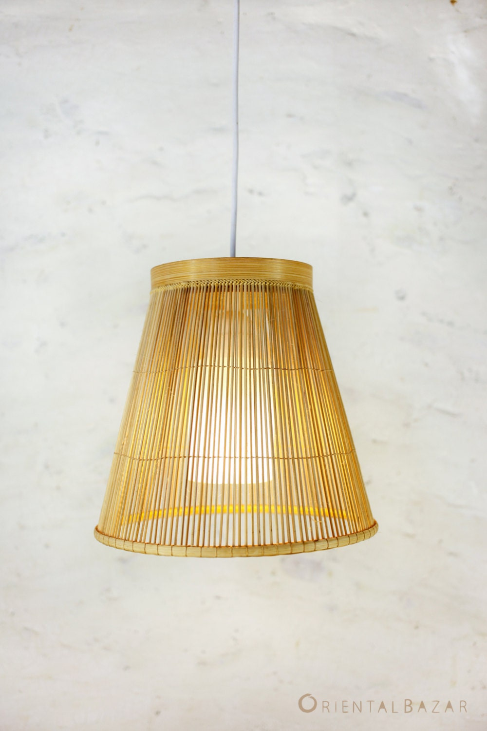bamboo pendant light repurposed basket ceiling by