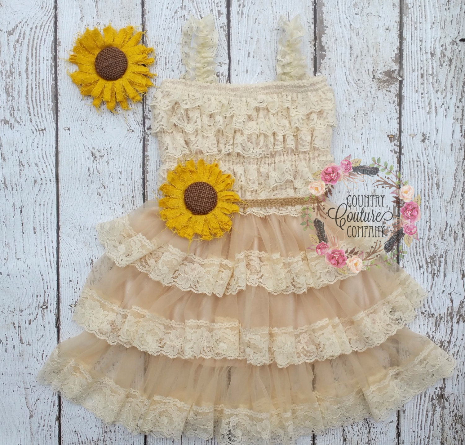 Sunflower Flower Girl Dress Sunflower Dress By
