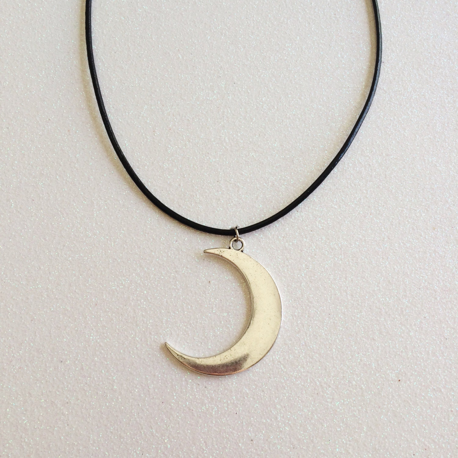 Choker Necklace Etsy: Crescent Moon Necklace/Choker