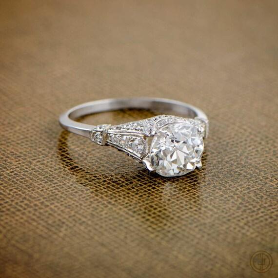 antique old mine cut diamond by estatediamondjewelry. Black Bedroom Furniture Sets. Home Design Ideas