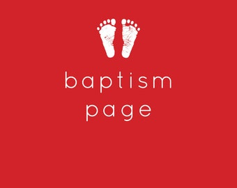 Baptism Page
