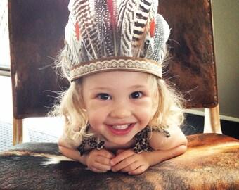 Baby Alala Feather Headband, Headpiece, feather Crown
