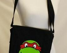 Ninja Turtle Canvas Messenger Bag Book Bag Satchel Preschool Bag Gym Bag Lunch Bag  Computer Tablet Bag