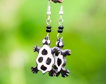 Turtle Earrings From Kenya