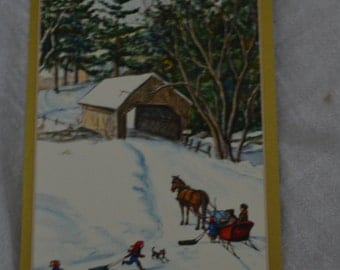 This is a beautiful Tasha Tudor christmas card.