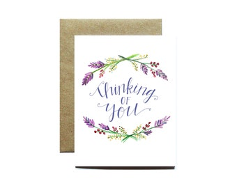Thinking of You, Greeting Card, Blank Inside, Any Occasion Card