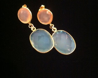 Mixed Chalcedony Earrings