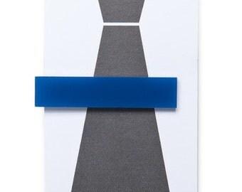Acrylic Tie Clip - BLUE