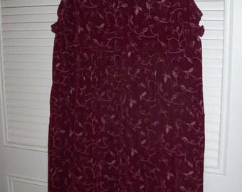 Jumper Medium, 12, Vintage J G Hook Pinwale Cordaroy  Maxi Jumper Dress  Prairie  Charmer Burgundy Medium