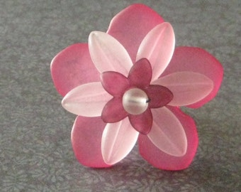 Pink and White Flower Ring