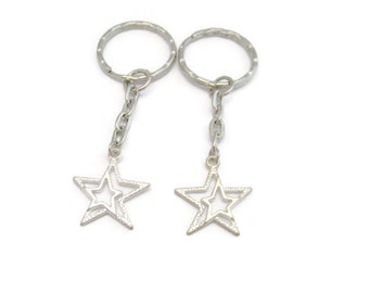 Star  Keychain  Set  Double Star Keychain Set Best Friends Keychain Set Gifts Under 20   Mother Daughter Gift Set