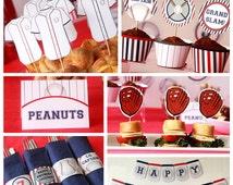 Baseball Party - Baseball Birthday - Baseball Printable - Baseball Decorations - Sports Birthday - First Birthday - (Instant Download)
