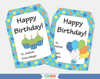 Birthday gift tags personalized gift tags personalized birthday gift tags personalized gift tags personalized birthday tags happy birthday tags printable tag editable instant download negle