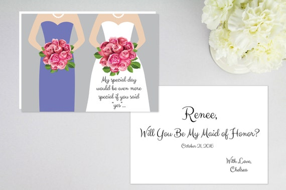 Honor Or Honour On Wedding Invitations: Will You Be My Bridesmaid? Will You Be My Matron/Maid Of