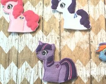 Pony Finger Puppets Set of Six
