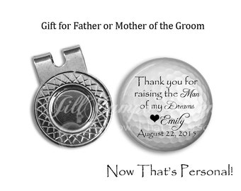 FATHER of the GROOM gift - Golf Ball Marker hat clip, Father of the Groom, Golf Gift Wedding, Gift for Dad from Daughter, gift from bride