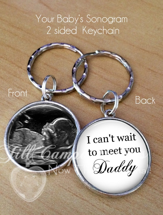 Baby Gift Ideas From Uncle : Baby sonogram keychain i can t wait to meet you
