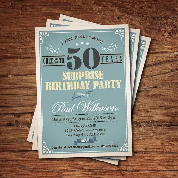 50. geburtstag-einladung für mann überraschen kerl. jeden, Einladung
