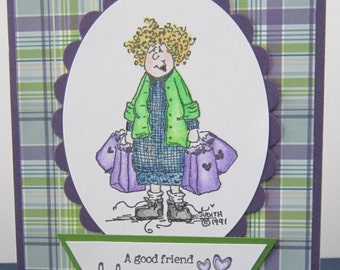 Yarn Shopper Friendship Card