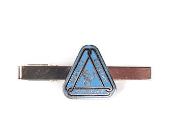 Unique Tie Clip / Service Quality Economy Tie Clip / Vintage Tie Clip / Gift Mens Tie Clip / Mens Gift / Small Tie Clip / Blue Tie Clip