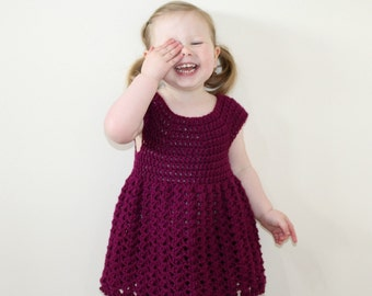 CROCHET DRESS PATTERN, Girls Dress Pattern, Toddler Dress, Crochet Pattern, Crochet Dress, Dress Pattern, Dress, Girls, Toddler (pdf 02)