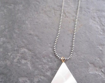 Mother of pearl triangle shape necklace
