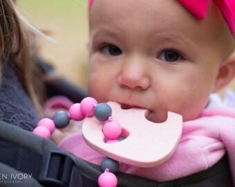 Chompy Elephant Babywearing Silicone Teething Accessory