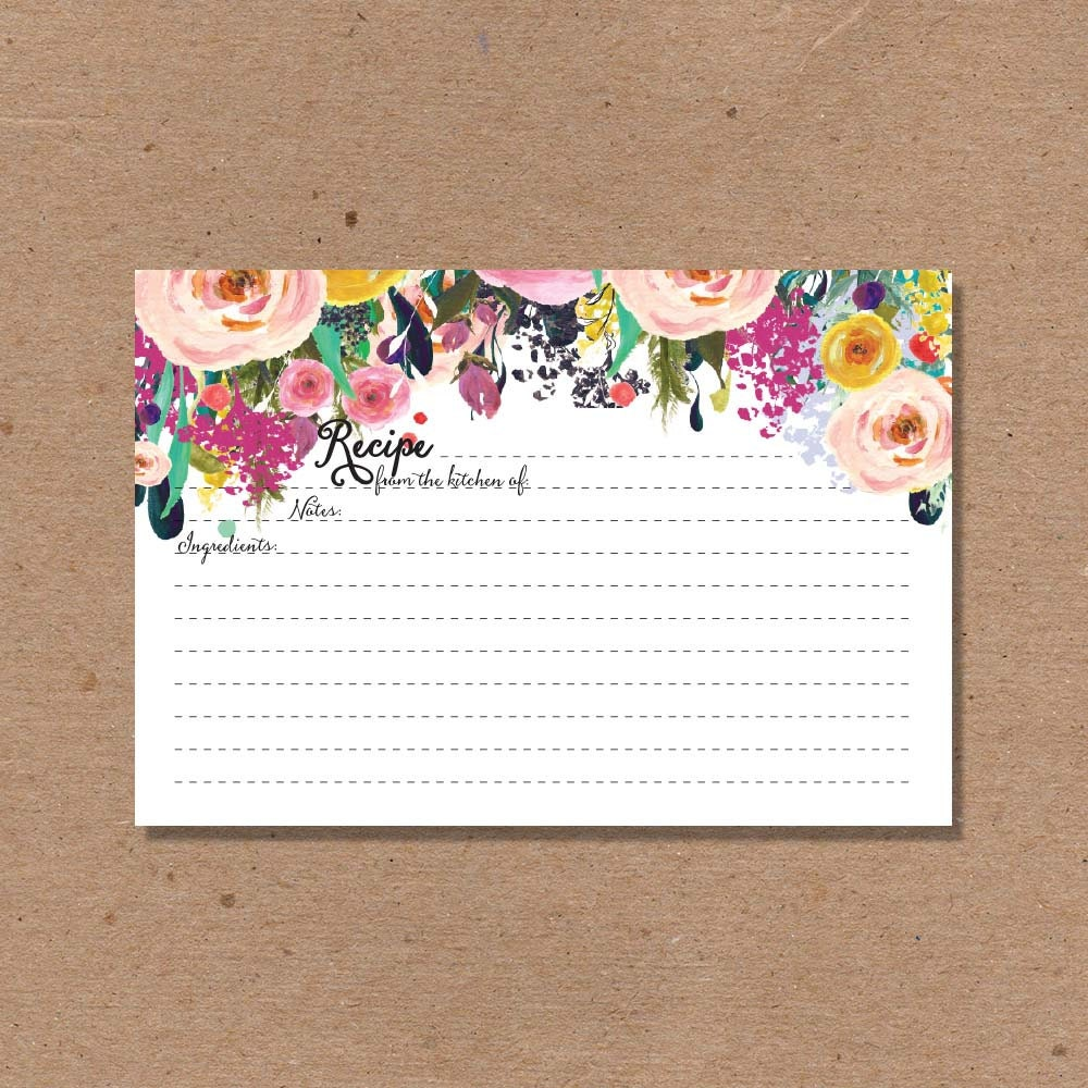 Wedding Gift Recipe Cards : SALE 30 RECIPE CARD cards Wedding Kitchen Shower Gift Couples