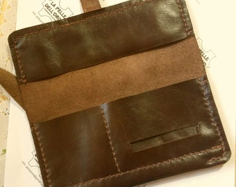 Leather tobacco pouches-Handmade Leather tobacco pouches tobacco pouch-Handmade in genuine leather.