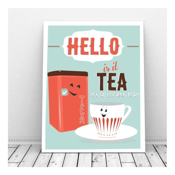 Quirky Kitchen Artwork: Funny Kitchen Art Funny Wedding Sign Instant Download Tea